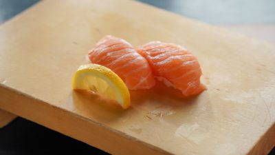 Everyone's favorite Salmon Nigiri